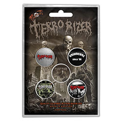 Terrorizer Button Badge Pack: Caustic Attack (Retail Pack)