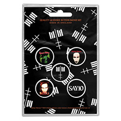 Marilyn Manson Button Badge Pack: Cross Logo (Retail Pack)