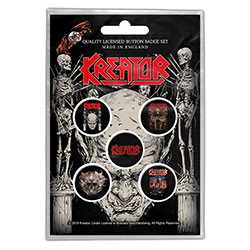 Kreator Button Badge Pack: Skull & Skeletons (Retail Pack)