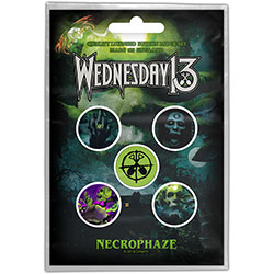 Wednesday 13 Button Badge Pack: Necrophaze