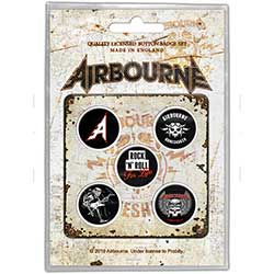 Airbourne Button Badge Pack: Boneshaker
