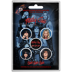 Motley Crue Button Badge Pack: Girls, Girls, Girls