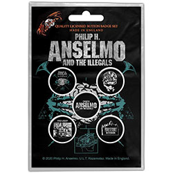 Philip H. Anselmo & The Illegals Button Badge Pack: Brain
