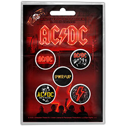 AC/DC Button Badge Pack: PWR-UP