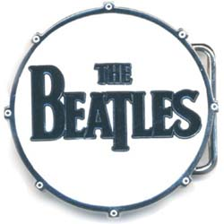 The Beatles Belt Buckle: Drum Logo