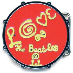 The Beatles Belt Buckle: Love Drum