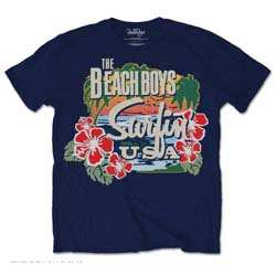 The Beach Boys Unisex Tee: Surfin USA Tropical