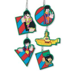 The Beatles Hanging Ornament: Yellow Submarine & Beatles