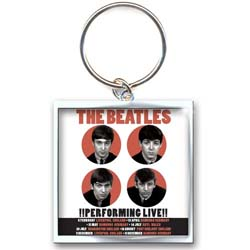 The Beatles Standard Keychain: 1962 Performing Live