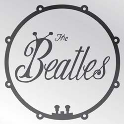 The Beatles Fridge Magnet: Bug Logo & Drum