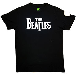The Beatles Men's Fashion Tee: Drop T Logo (Applique Motifs)