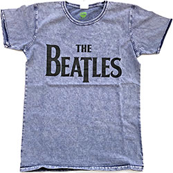 The Beatles Unisex Tee: Drop T Logo (Burn Out)