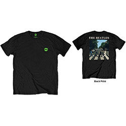 The Beatles Unisex Tee: Abbey Road & Logo (Back Print/Retail Pack)