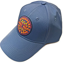 The Beatles Men's Baseball Cap: Sgt Pepper Drum (Denim Blue)