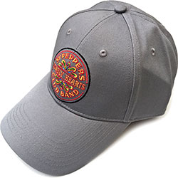 The Beatles Men's Baseball Cap: Sgt Pepper Drum (Grey)