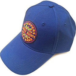 The Beatles Men's Baseball Cap: Sgt Pepper Drum (Mid Blue)