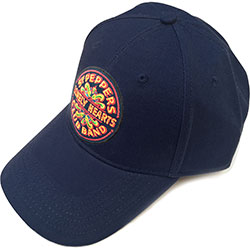 The Beatles Unisex Baseball Cap: Sgt Pepper Drum (Navy Blue)