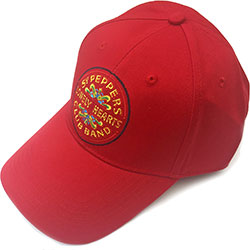The Beatles Men's Baseball Cap: Sgt Pepper Drum (Red)