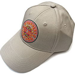 The Beatles Unisex Baseball Cap: Sgt Pepper Drum (Sand)