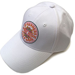 The Beatles Unisex Baseball Cap: Sgt Pepper Drum (White)