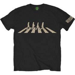 The Beatles Unisex Tee: Abbey Road Silhouette