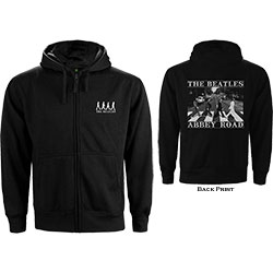The Beatles Unisex Zipped Hoodie: Abbey Road (Back Print)