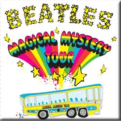 The Beatles Fridge Magnet: Magical Mystery Tour