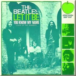 The Beatles Fridge Magnet: Let it Be/You Know my Name