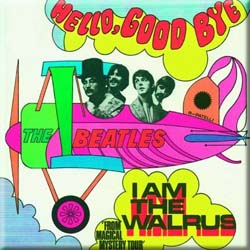 The Beatles Fridge Magnet: Hello, Goodbye/I am the Walrus