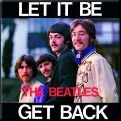 The Beatles Fridge Magnet: Let it Be/Get Back
