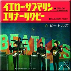 The Beatles Fridge Magnet: Yellow Submarine/Eleanor Rigby (Japan Release)