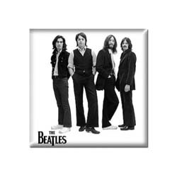 The Beatles Fridge Magnet: White Iconic Image