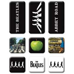 The Beatles Fridge Magnet Set: Abbey Road
