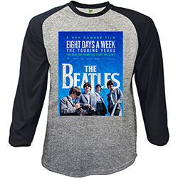 The Beatles Men's Raglan Tee: 8 Days a Week Movie Poster