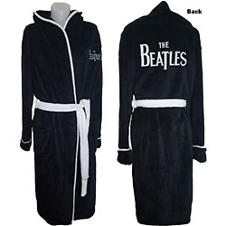 The Beatles Unisex Bathrobe: Drop T Logo
