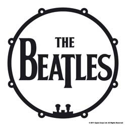 The Beatles Single Cork Coaster: Drum Head