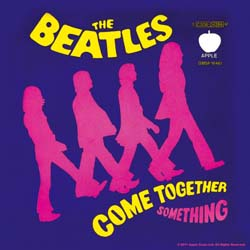 The Beatles Single Cork Coaster: Come together/Something purple