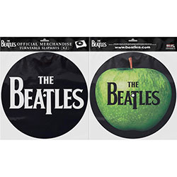 The Beatles Slipmat Set: Drop T Logo & Apple