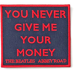 The Beatles Standard Patch: Your Never Give Me Your Money (Abbey Road) (Song Titles/Loose)