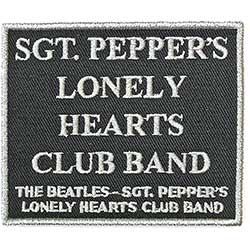 The Beatles Standard Patch: Sgt. Pepper's….Black (Song Title/Loose)