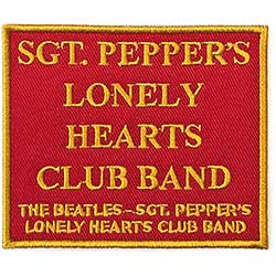The Beatles Standard Patch: Sgt. Pepper's….Red (Song Title/Loose)