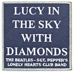 The Beatles Standard Patch: Lucy In The Sky with Diamonds (Song Title/Loose)