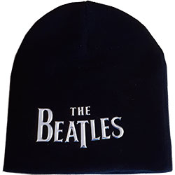 The Beatles Men's Beanie Hat: Drop T Logo (Sonic Silver)