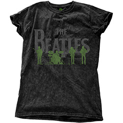 The Beatles Ladies Fashion Tee: Saville Row Line-Up with Snow Wash Finishing