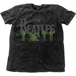 The Beatles Unisex Fashion Tee: Saville Row Line-Up (Snow Wash)
