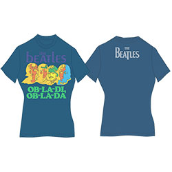 The Beatles Ladies Premium Tee: Ob-La-Di (Back Print)