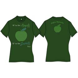 The Beatles Ladies Premium Tee: A is for Apple (Back Print)