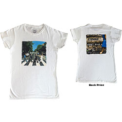 The Beatles Ladies Premium Tee: Abbey Road (Back Print)