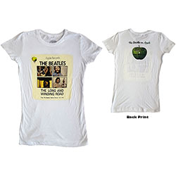 The Beatles Ladies Premium Tee: Long & Winding Road (Back Print)
