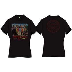 The Beatles Ladies Premium Tee: Sgt Pepper with Back Printing